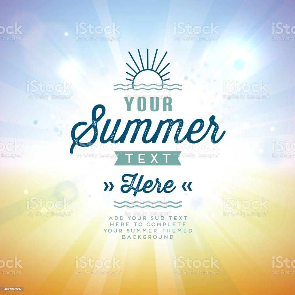 Vector illustration of summer background royalty-free stock vector art