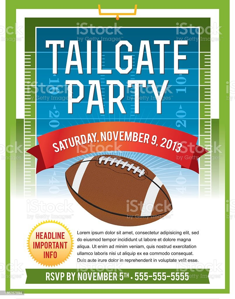Vector illustration of tailgate flyer royalty-free stock vector art