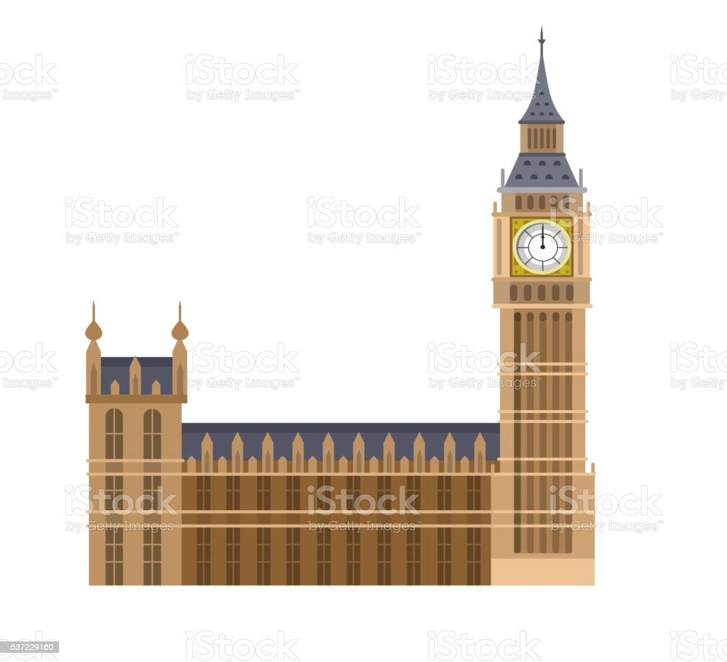 Vector illustration of the Big Ben vector art illustration