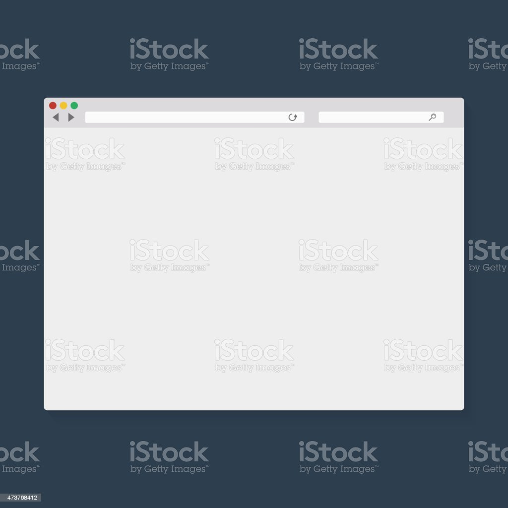 Vector illustration of the browser window vector art illustration