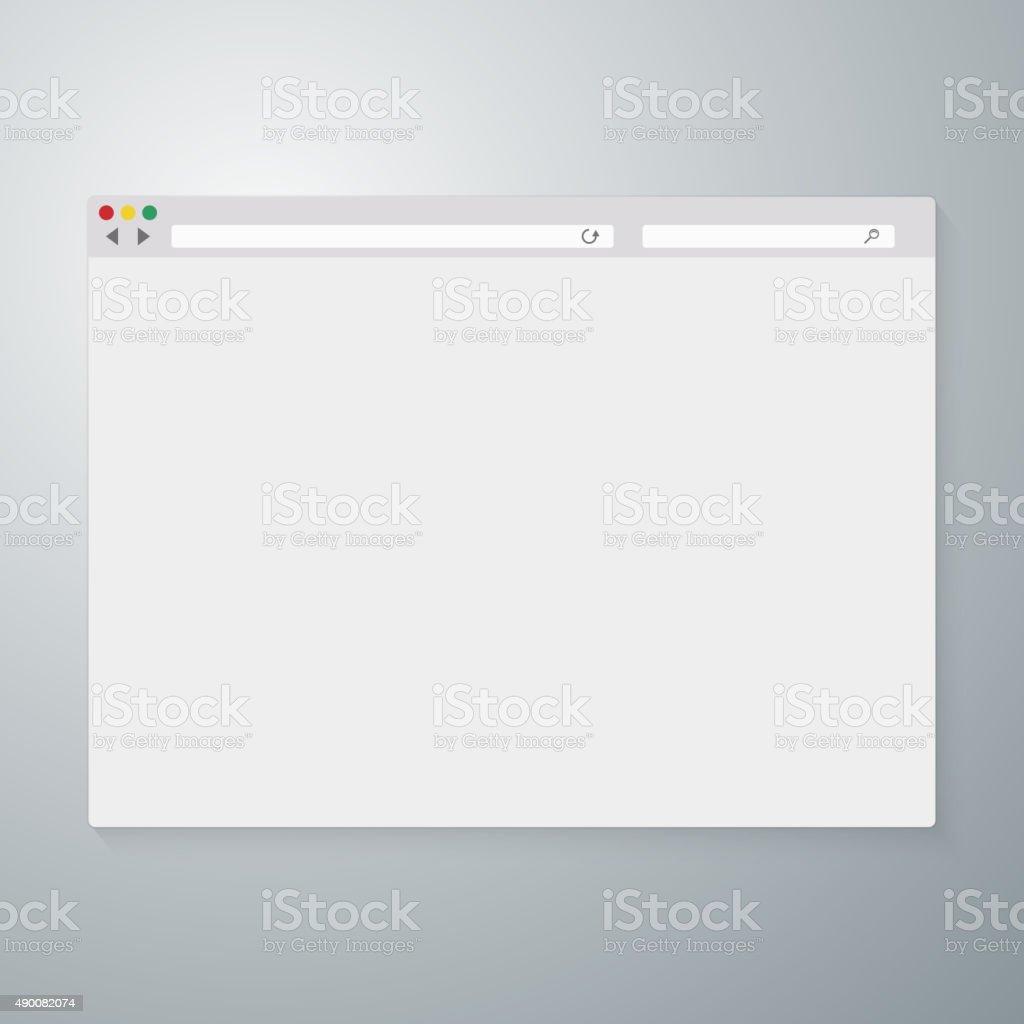Vector illustration of the browser window vector art illustration