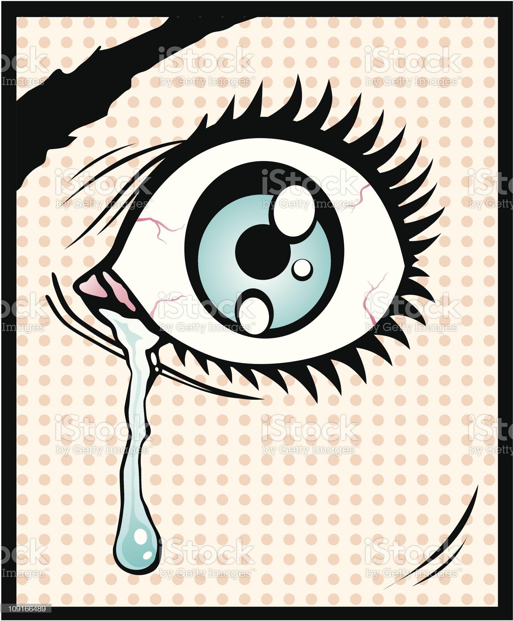 Vector illustration of the eye royalty-free stock vector art