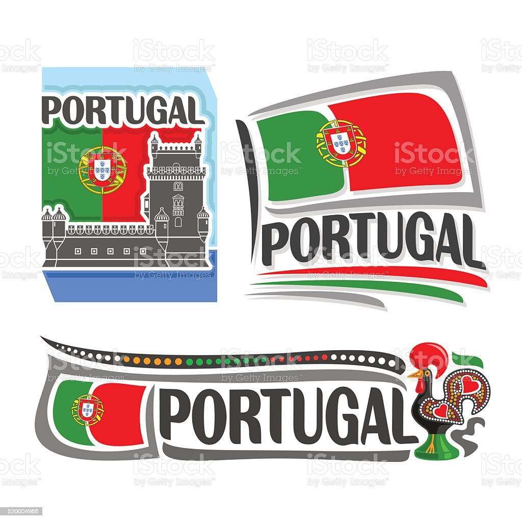 Vector illustration of the logo for Portugal vector art illustration