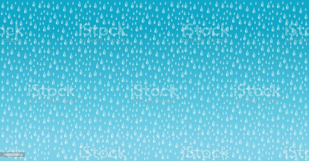 Vector illustration of the rain background with drops. vector art illustration
