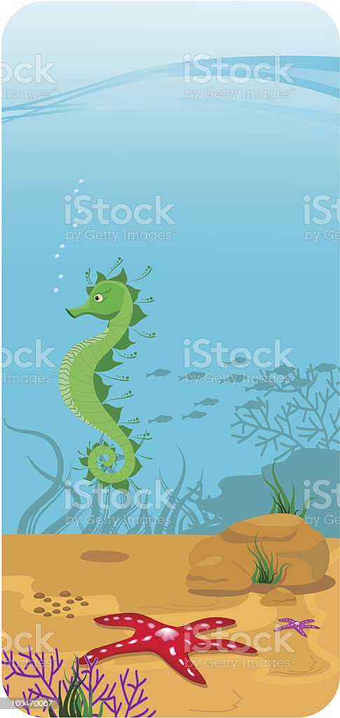 Vector illustration of the seabed royalty-free stock vector art