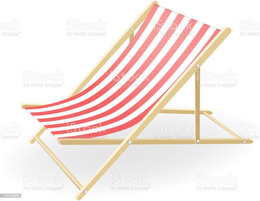Vector illustration of the striped sunchair vector art illustration