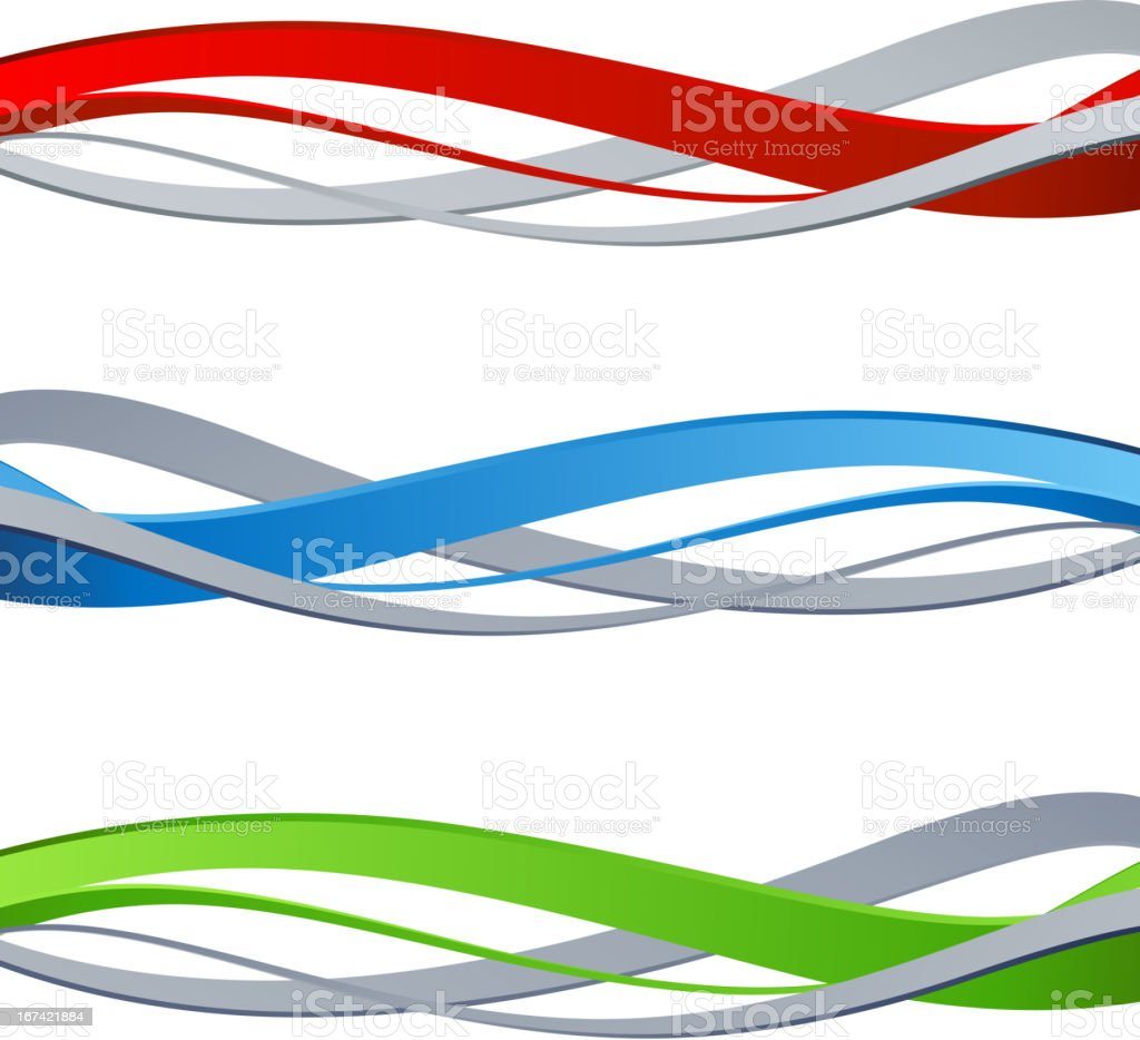 Vector illustration of three abstract waves royalty-free stock vector art