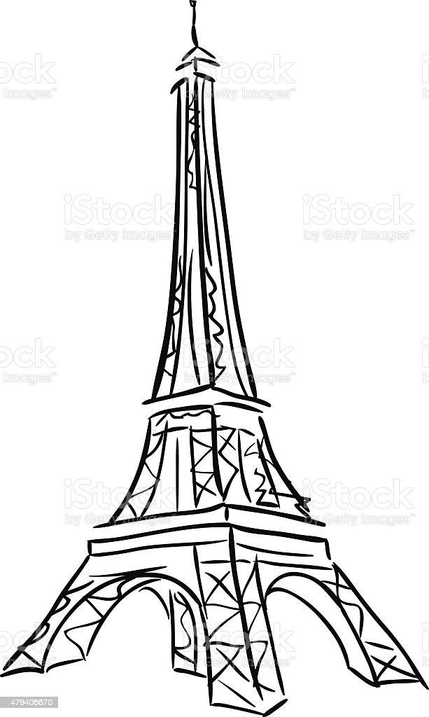 Vector illustration of Tower Eiffel. vector art illustration