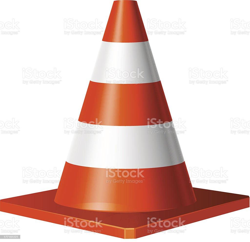 Ilustração em vetor de cone de trânsito vetor e ilustração royalty-free royalty-free