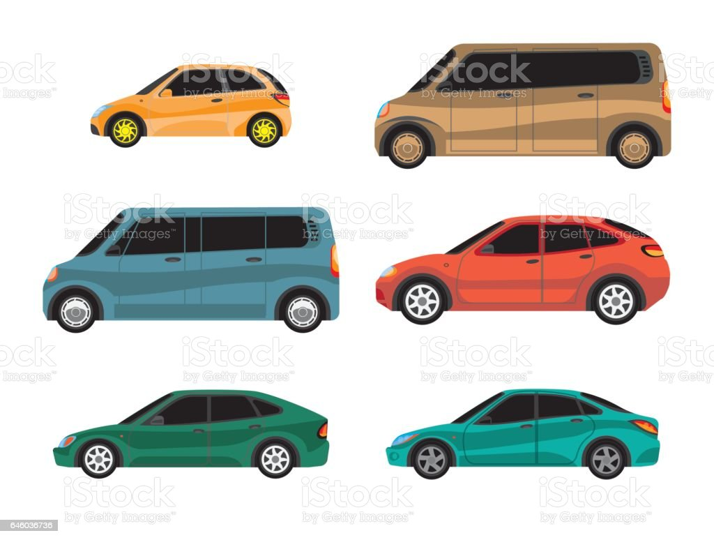 Vector illustration of types of cars. vector art illustration