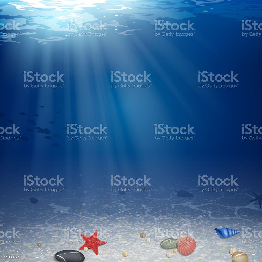 Vector illustration of underwater background royalty-free stock vector art