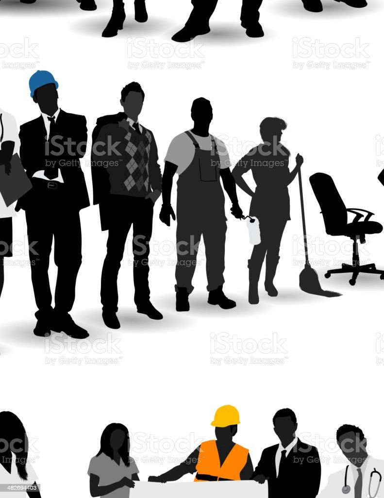 Vector illustration of various occupations vector art illustration
