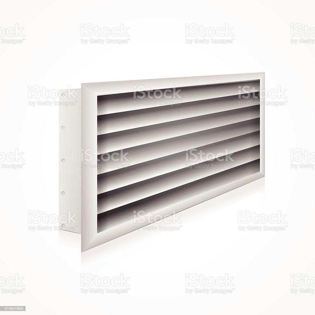Vector illustration of ventilation louver vector art illustration