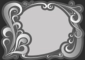 Vector illustration of vintage gray frame