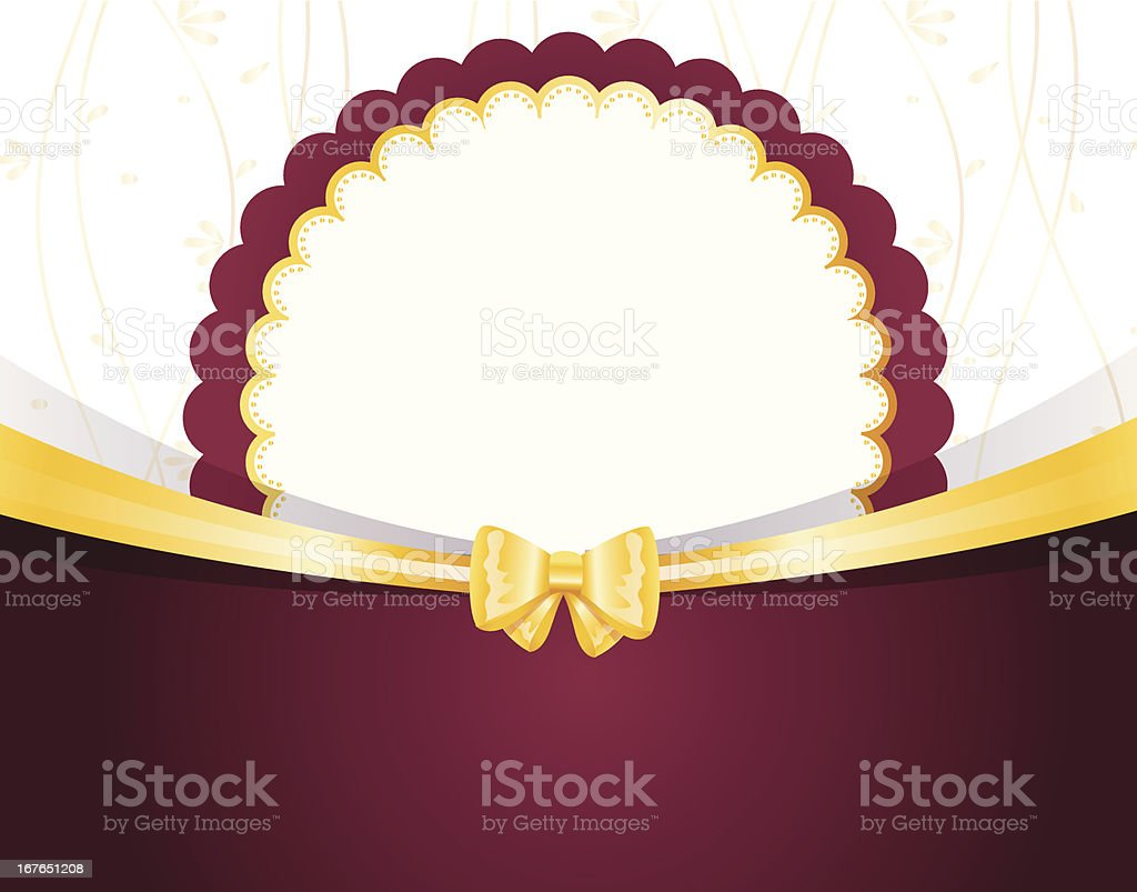 Vector illustration of Vintage Invitation with bow royalty-free stock vector art