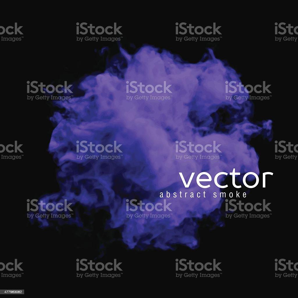 Vector illustration of violet smoke vector art illustration