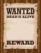 Vector illustration of wanted poster template