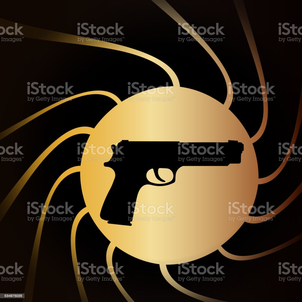 Vector illustration of weapons. vector art illustration
