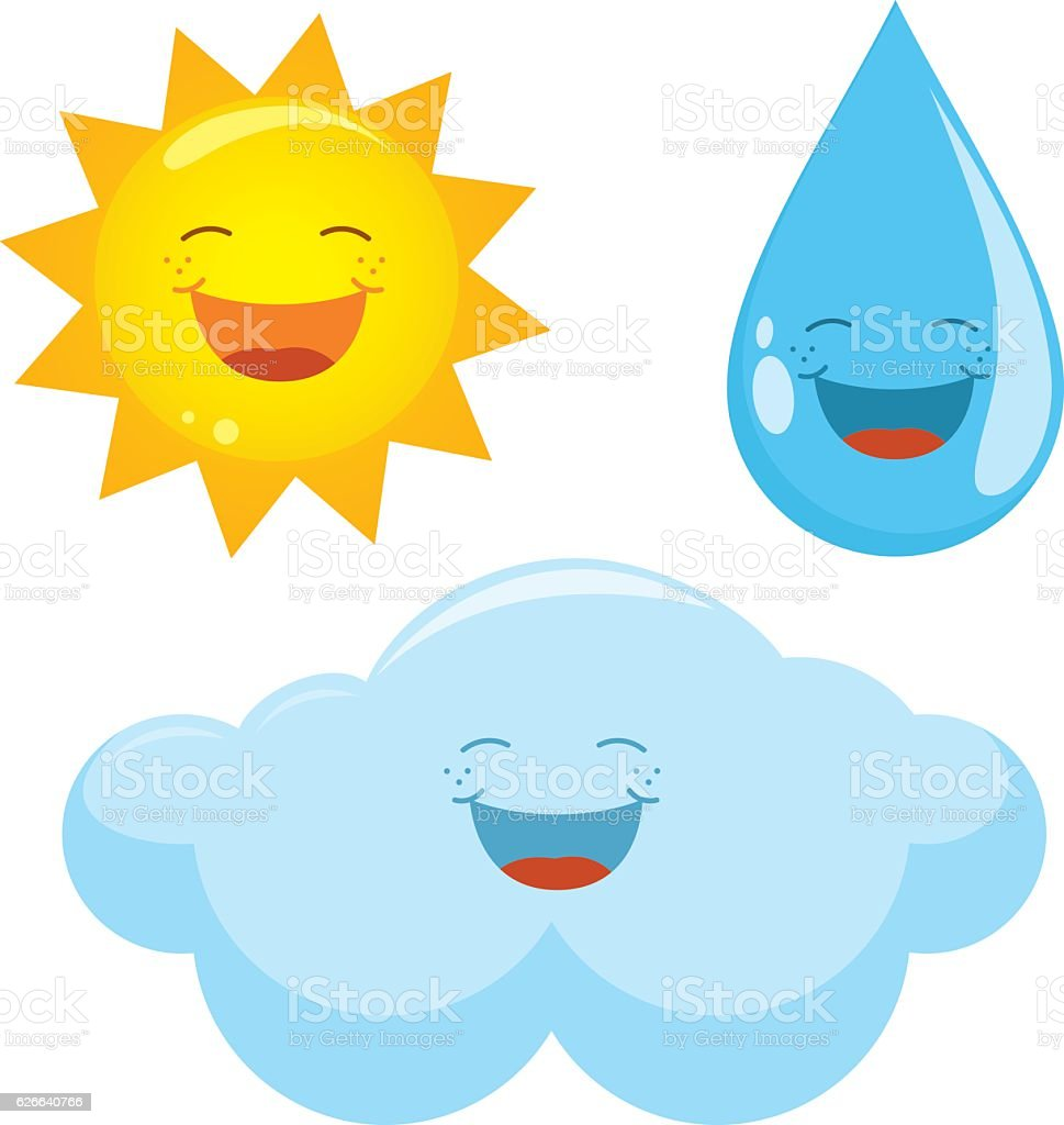 Vector Illustration Of Weather Icons vector art illustration