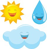 Vector Illustration Of Weather Icons
