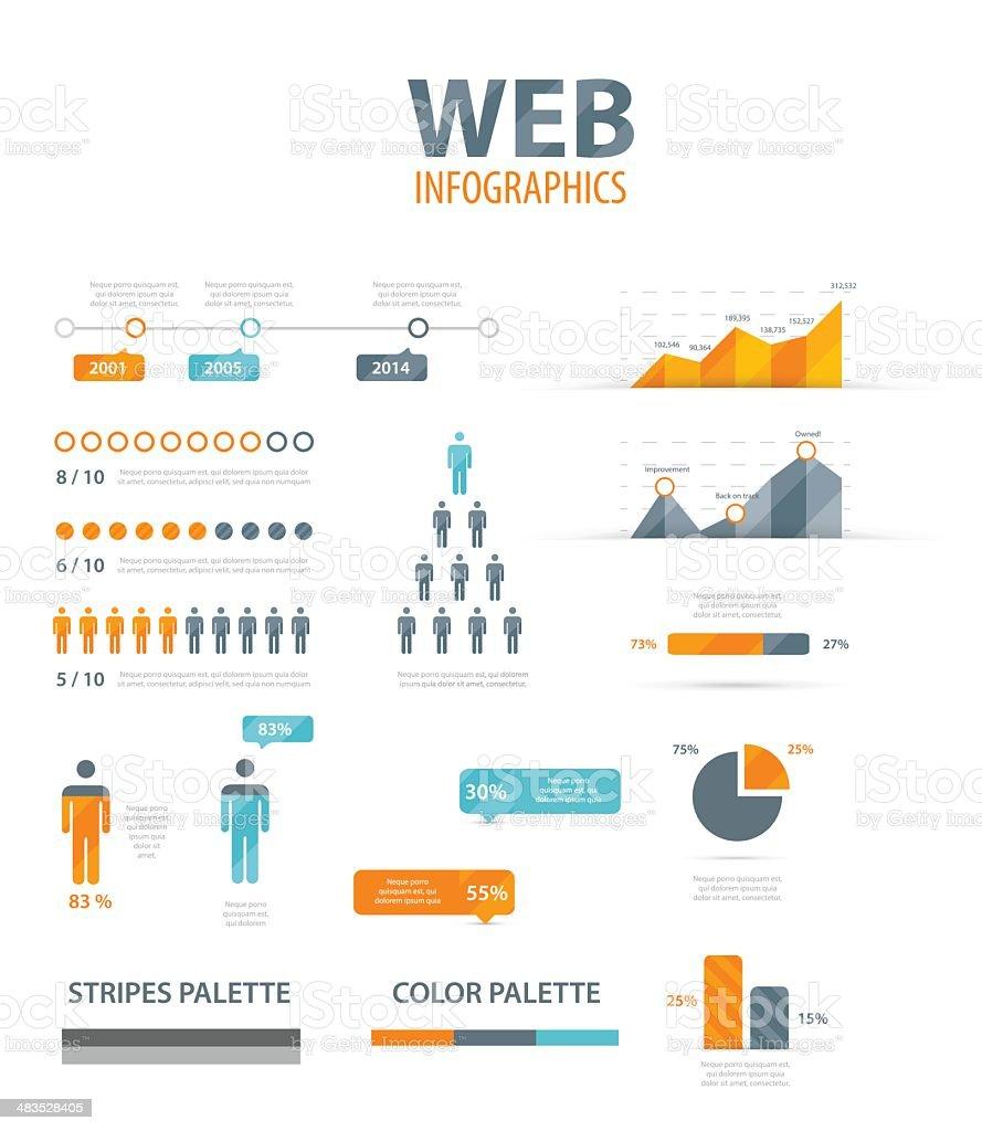 Vector illustration of web infographics vector art illustration
