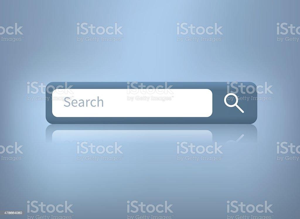 vector illustration of web search bar on blue background vector art illustration