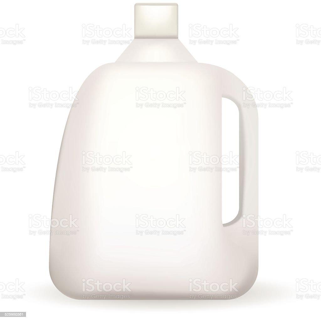 Vector illustration of white plastic bottle vector art illustration
