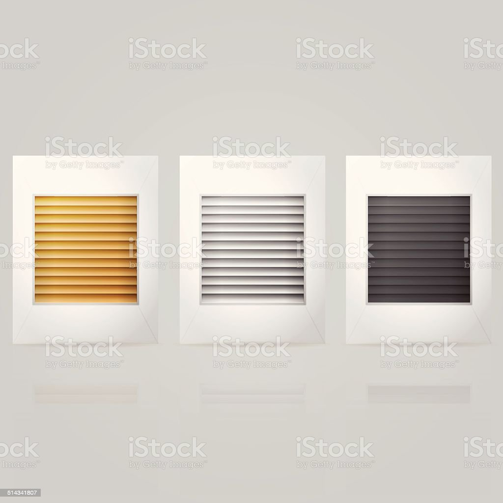 Vector illustration of window louvers in frame vector art illustration