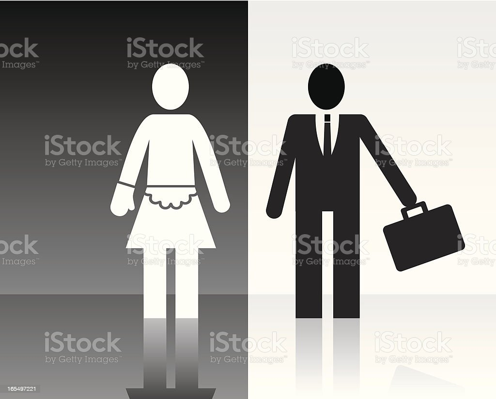 Vector illustration of woman and man icons royalty-free stock vector art