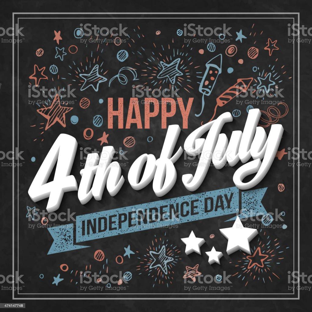 Vector illustration on black background for Independence Day vector art illustration