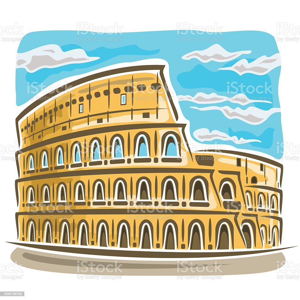 Vector illustration on the theme of Coliseum vector art illustration
