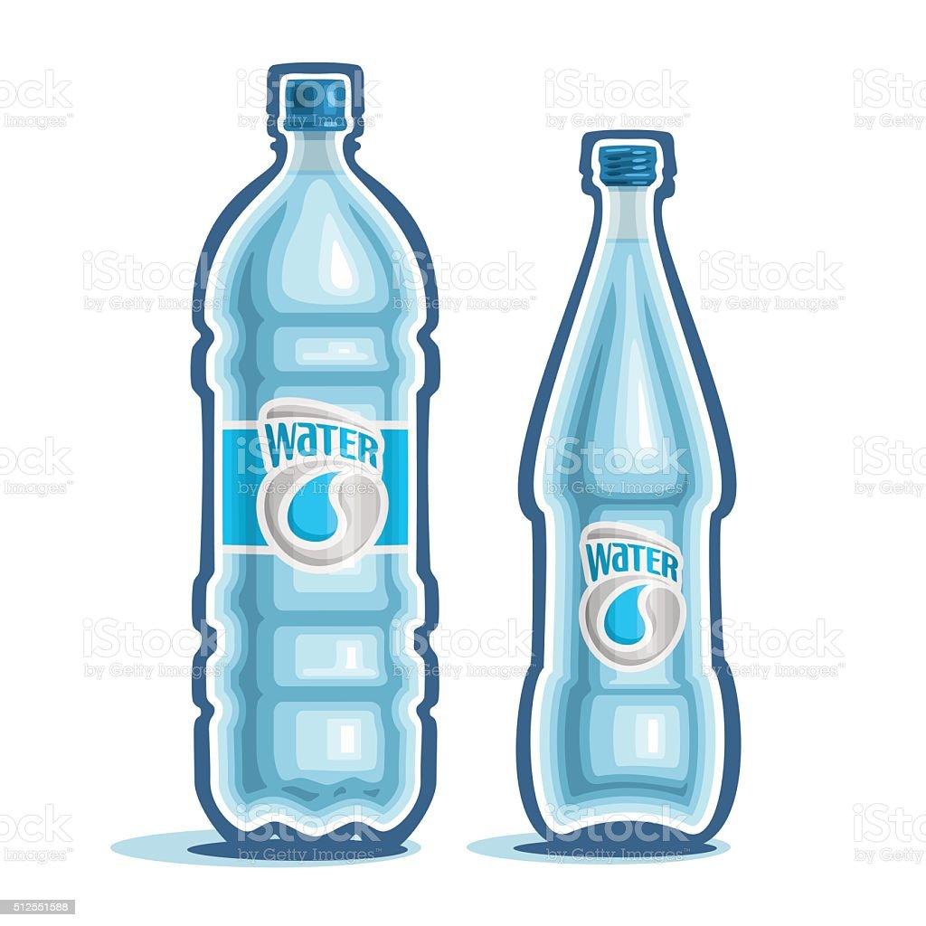 Vector illustration on the theme of the logo for bottled water vector art illustration