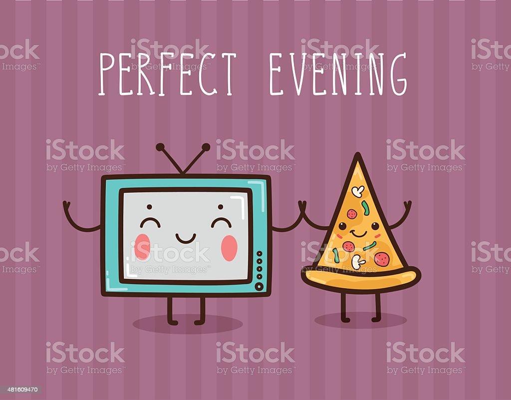 Vector illustration - Perfect evening. vector art illustration