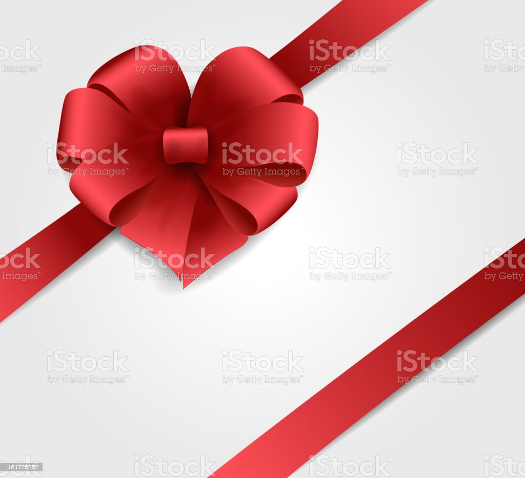 Vector illustration Red bow royalty-free stock vector art