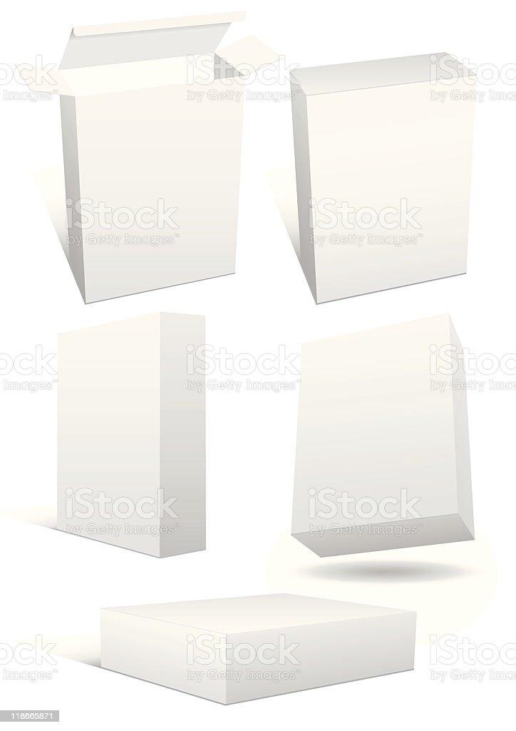 Vector illustration set of blank retail box vector art illustration