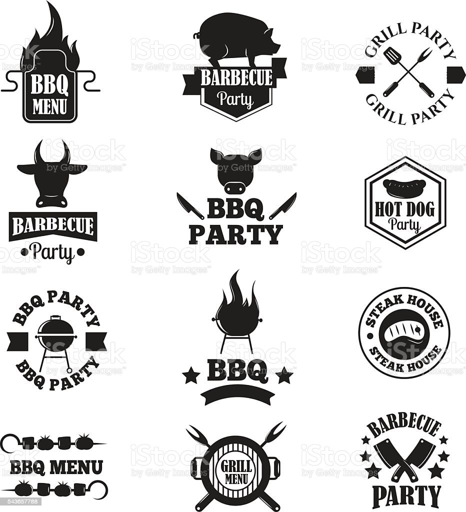 BBQ vector illustration set vector art illustration