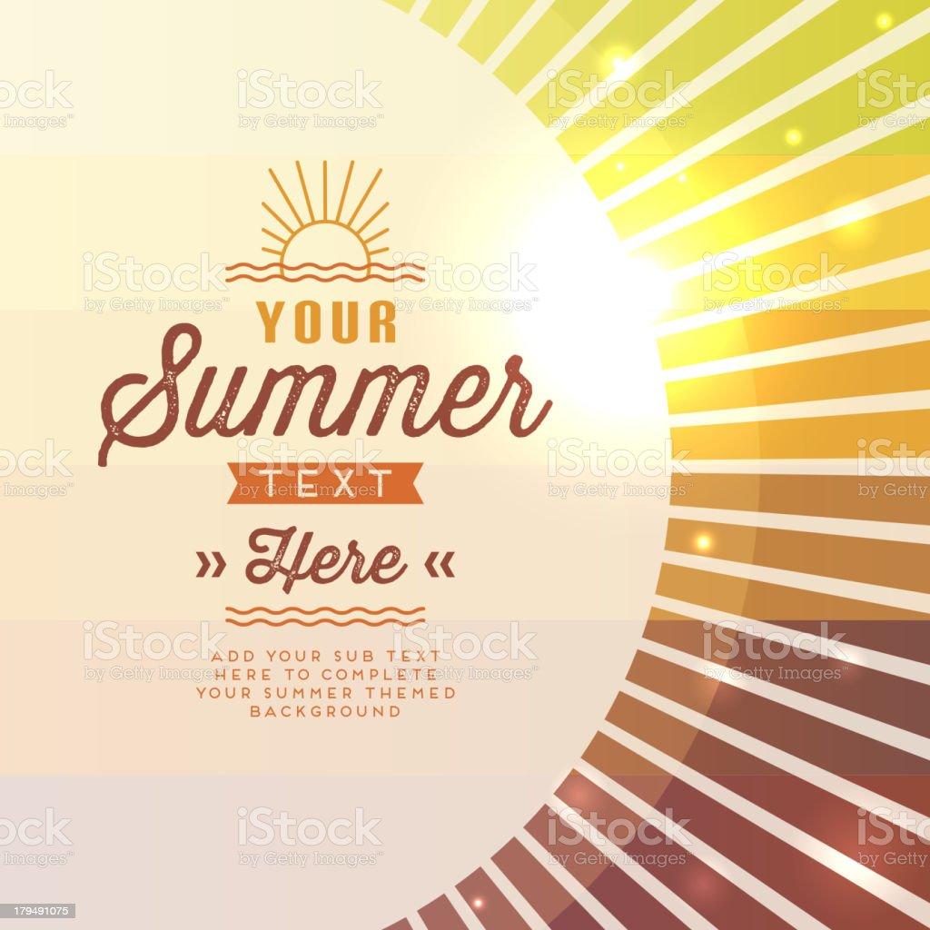 Vector illustration summer sun with text space vector art illustration