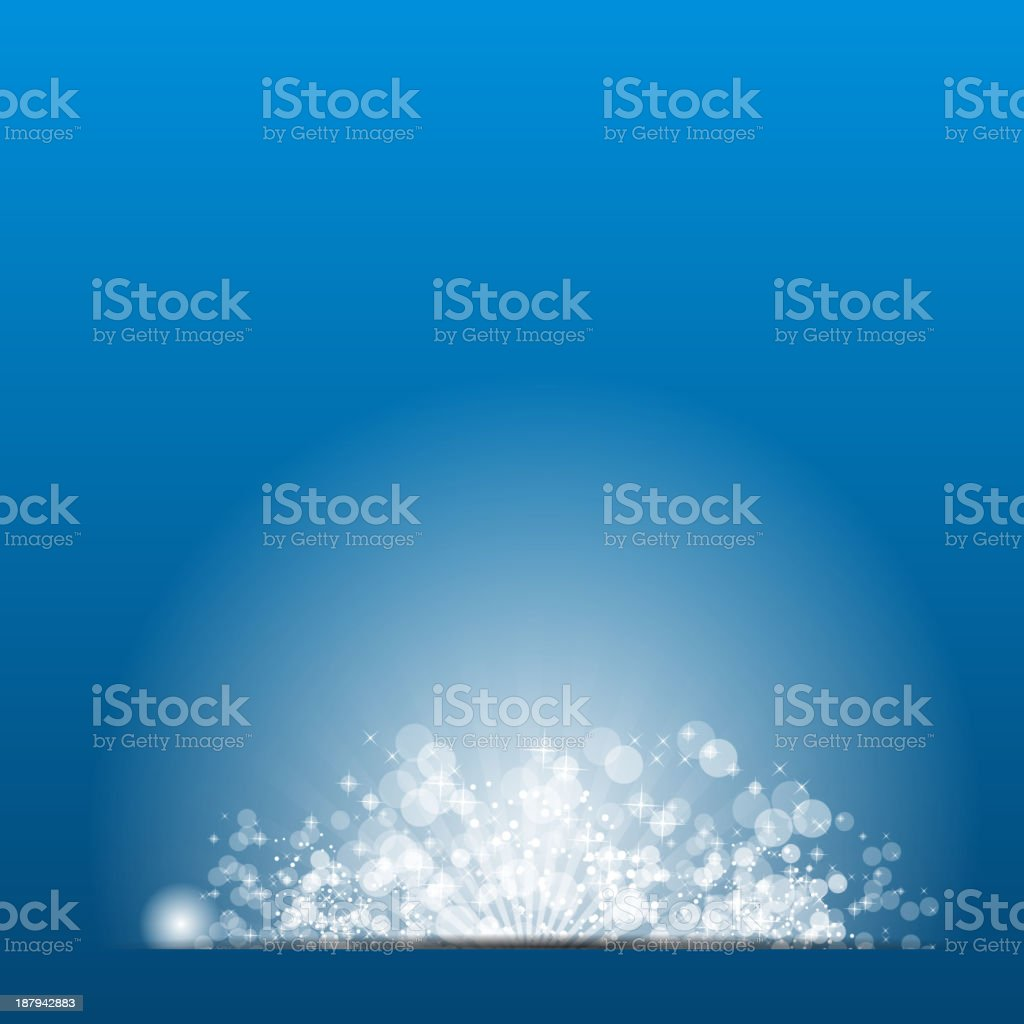 Vector illustration sun on blue background. vector art illustration