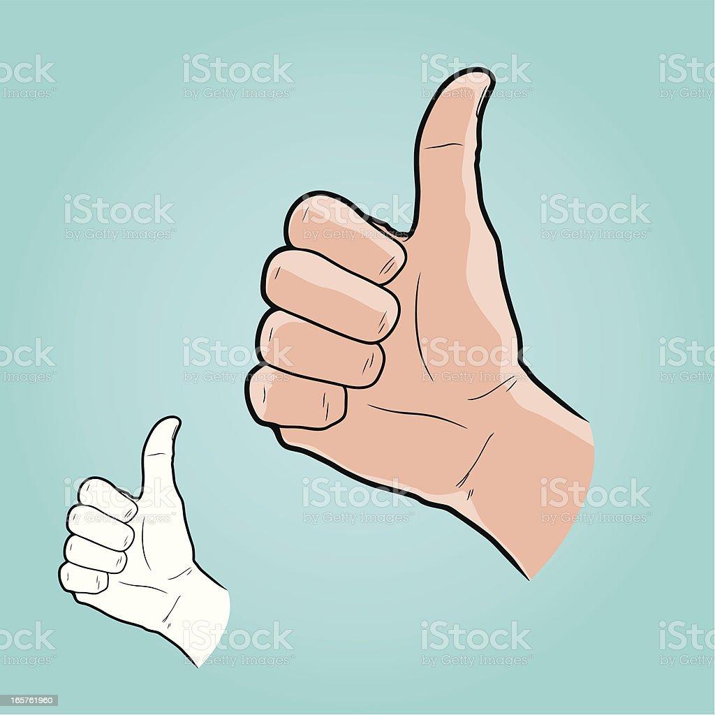 Vector illustration - Thumbs up royalty-free stock vector art