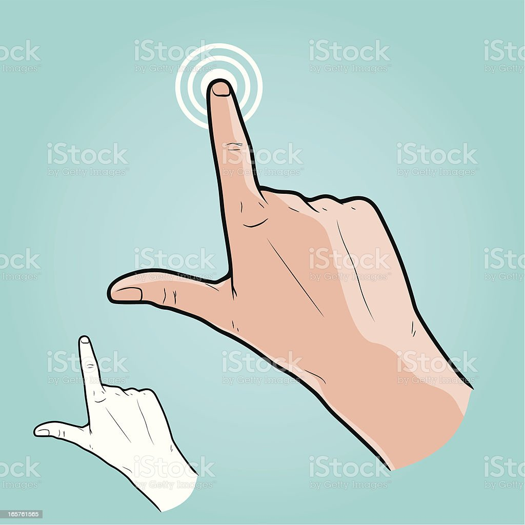Vector illustration - Touch Screen Hand Gesture royalty-free stock vector art