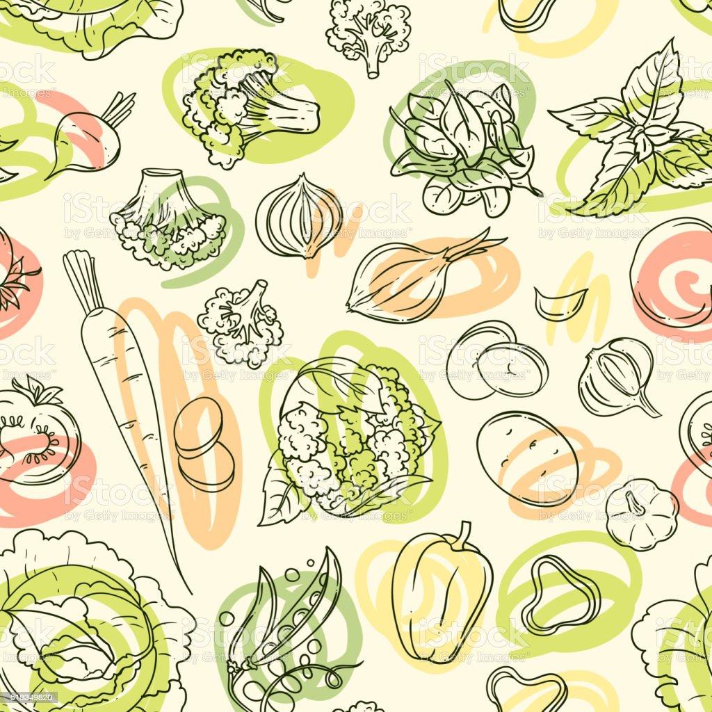 vector illustration vegetables vector art illustration