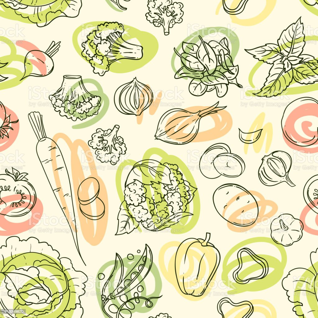 vector illustration vegetables vector art illustration