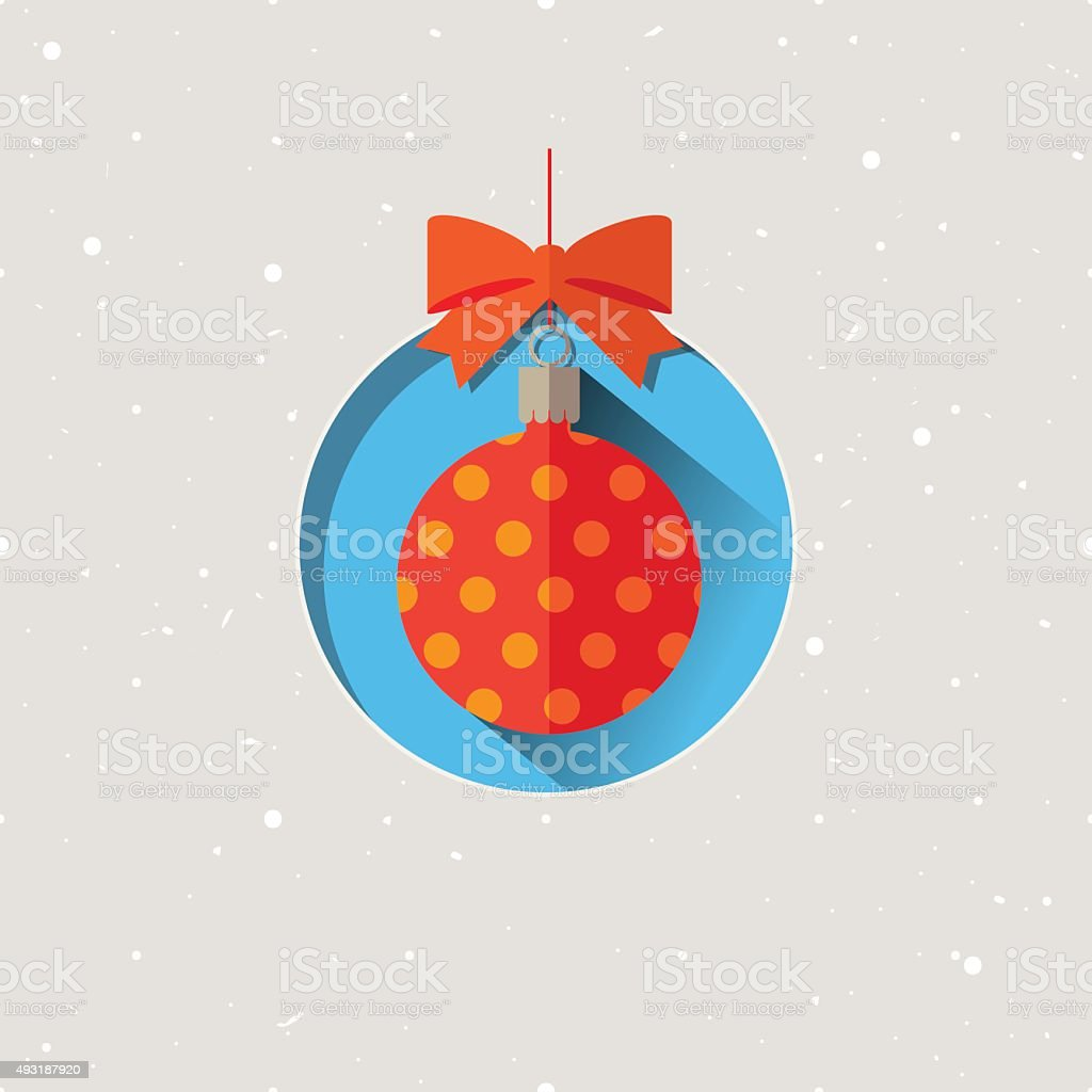 Illustration vectorielle de Noël ballon stock vecteur libres de droits libre de droits