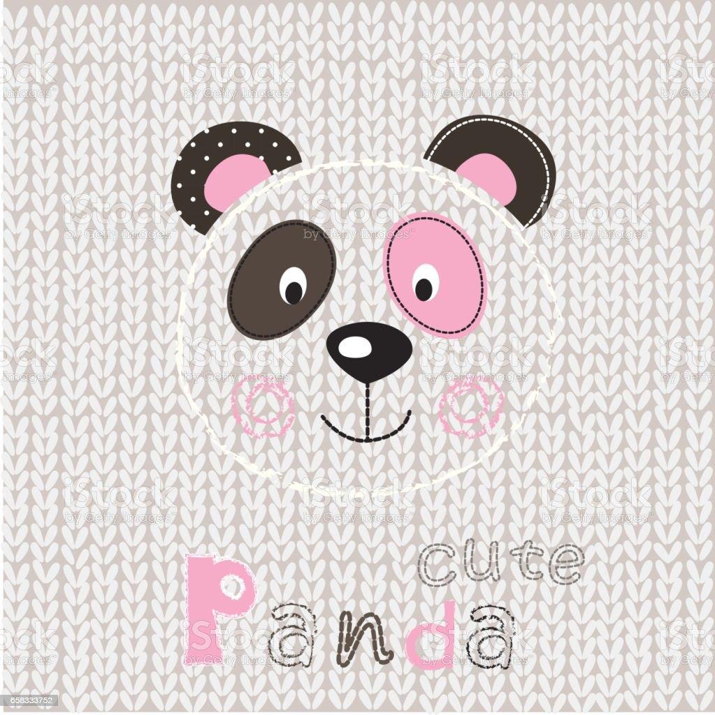 Vector illustration with cute panda vector art illustration