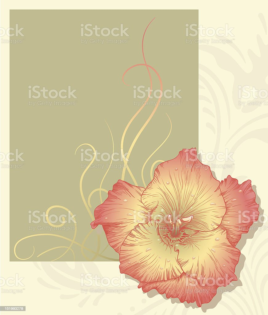 Vector illustration with flower. royalty-free stock vector art