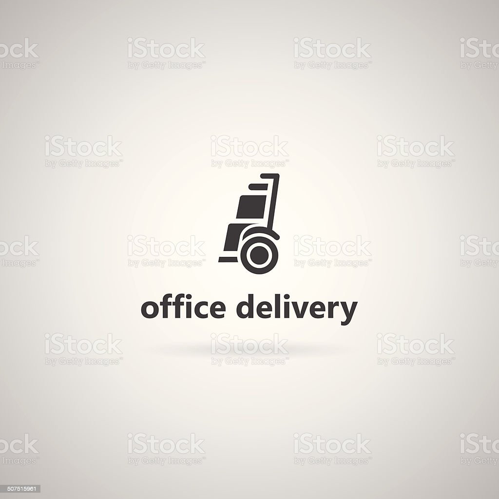 Vector illustration with icon for alternative transport for office. vector art illustration
