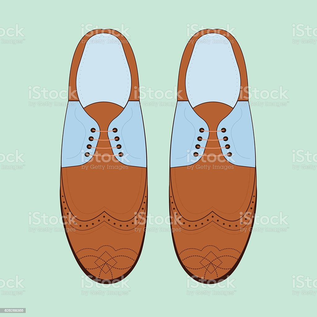 Vector illustration with men fashion shoes. vector art illustration