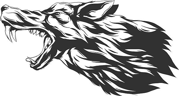 Angry Wolf Tattoo Clip Art, Vector Images & Illustrations ...