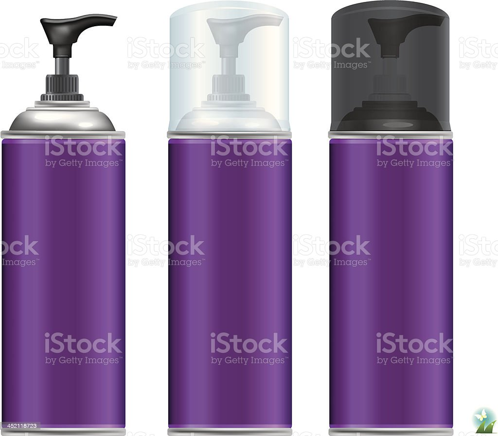 Vector illustrations of lotion bottle. royalty-free stock vector art
