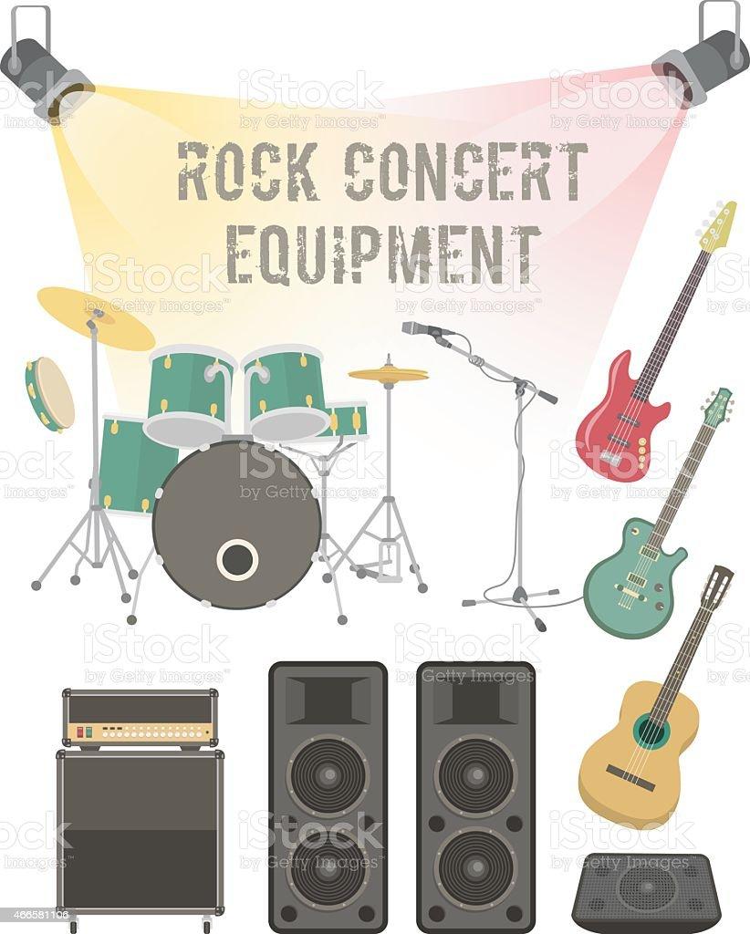 Vector illustrations of rock concert equipment vector art illustration